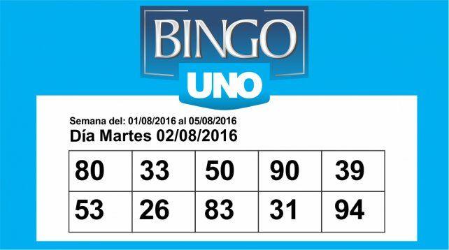 Bingo UNO: Los números de este viernes 5 de agosto
