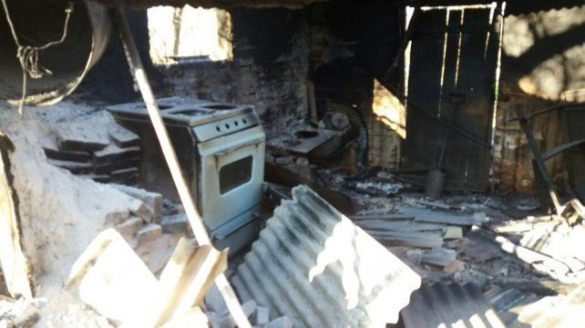 Falleció una mujer al incendiarse su casa