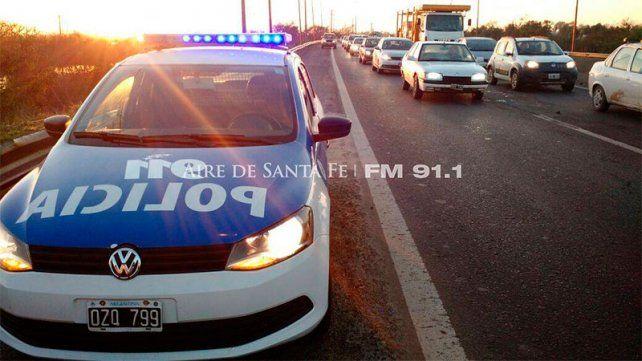 Choque múltiple en la ruta 168 complica el tránsito entre Paraná y Santa Fe