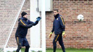 Guillermo sorprendió en la práctica de Boca