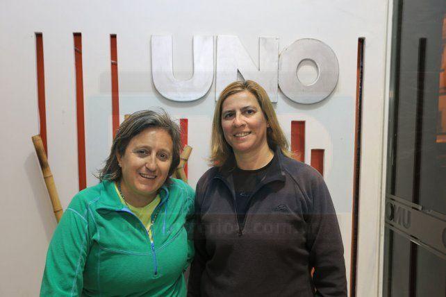 Las profesoras Soledad Serra y Mariela Alegre estuvieron en la redacción de Diario Uno