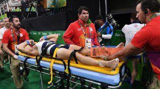 Impactante fractura de un gimnasta francés