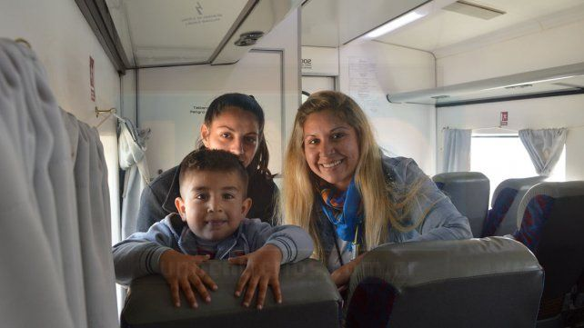 Viaje en tren. Analía