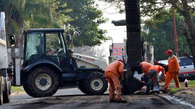 Trabajos. Esta semana se inició la reparación integral de calle Rondeau
