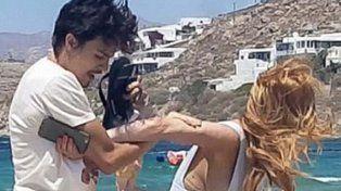 Lindsay Lohan agredida por su novio ruso Egor Tarabasov