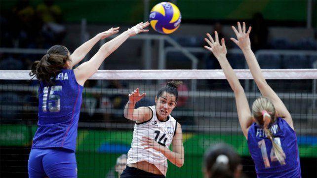 La selección argentina femenina de vóley no pudo ante Rusia en el debut de los Juegos