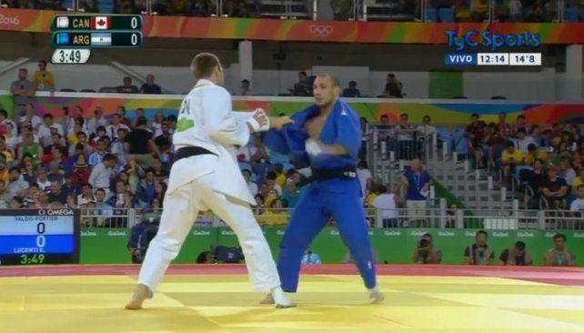El judoca Lucenti perdió en octavos de final y quedó eliminado
