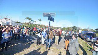 Una calle del exhipódromo de Paraná recuerda a Carmen Germano