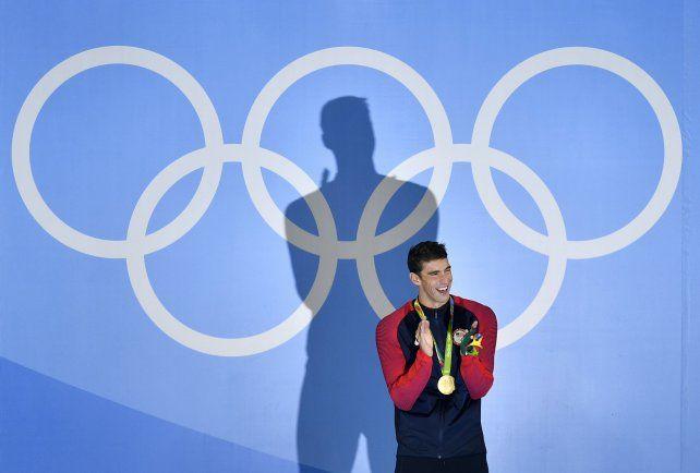Phelps suma 21 medallas doradas en cuatro Juegos Olímpicos