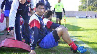 Diego Reynoso se lesionó en el amistoso que Atlético Paraná disputó el sábado en San Jorge.