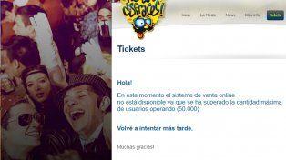 Fiesta de Disfraces: colapsó la página para la venta de tickets
