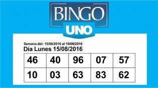 Bingo UNO: Estos son los números de la semana