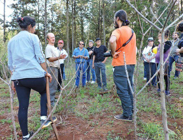 Los participantes visitaron las chacras de la región. FuenteSecretaría de Agricultura Familiar Delegación Entre Ríos.