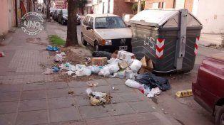 Insalubridad en calle Laprida