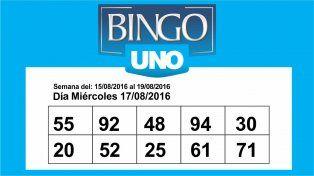 Bingo UNO: Los números de la semana