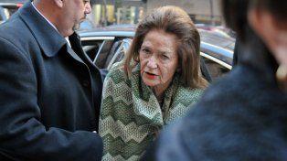 La jueza Elena Highton de Nolasco al llegar al Palacio de Justicia.