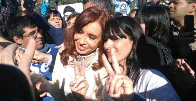 Cristina se sorprendió con la respuesta de la militancia.