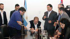 El acuerdo se firmó este jueves por la tarde en la Secretaría de Trabajo.
