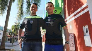 Daniel Zamora y Rodrigo Garcilano visitaron la Redacción de UNO antes de viajar a Chaco.