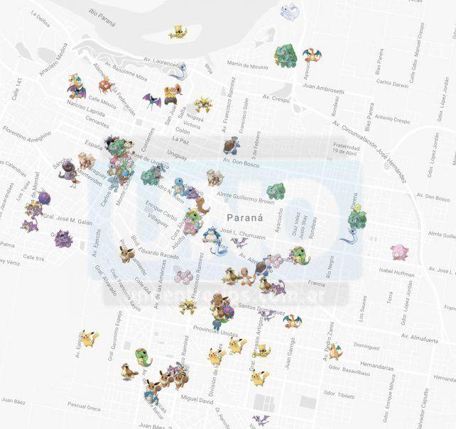 Para fanáticos. En la página de Internet Pokecrew se puede ver el mapa de toda la provincia.