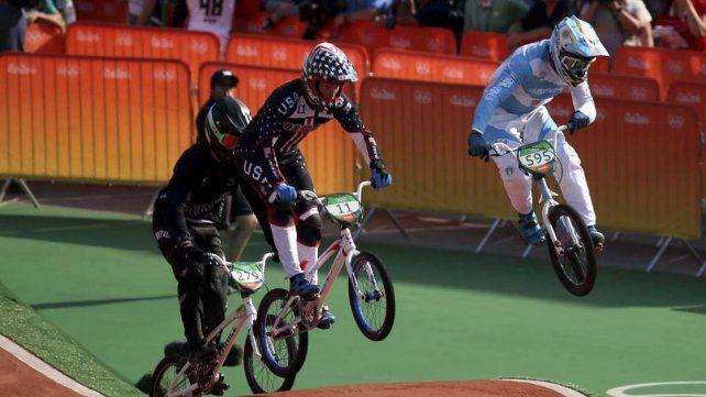 Gonzalo Molina. Quedó cerca de la final en el Ciclismo BMX