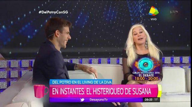 El coqueteo de Susana Giménez y Del Potro
