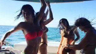 El baile sensual en bikini de Pampita con amigas
