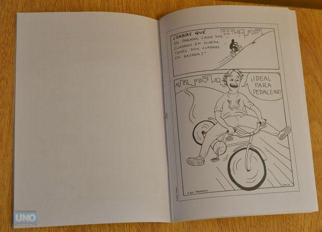 Una de las páginas del libro para pintar.