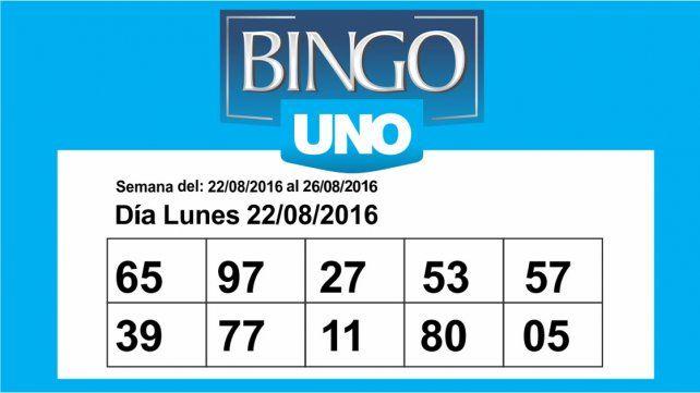 Bingo UNO: Controlá los números de esta semana