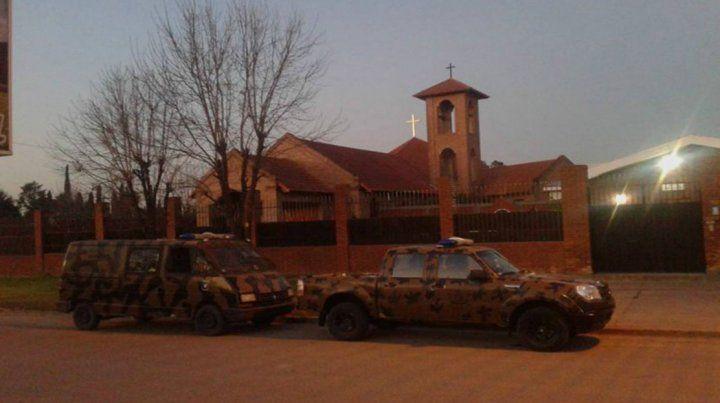 La justicia allana el convento de Nogoyá desde las 7 de la mañana.