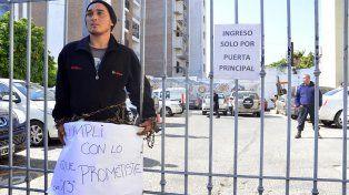 El muchacho aseguró que le mataron un amigo trabajando para la campaña. Foto UNO Mateo Oviedo.