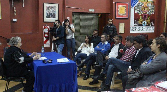 Hebe conversó con diputados nacionales de cara a la marcha de la resistencia