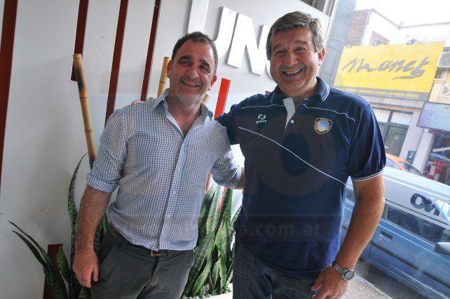 Reggiardo y Carbonell son pura confianza de cara al choque de hoy. Esperan un partido cerrado.