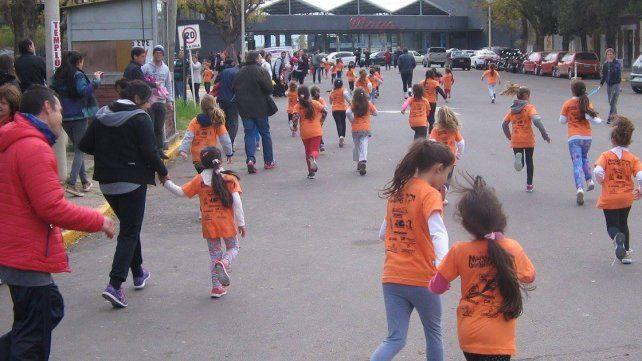 Los chicos tuvieron su maratón