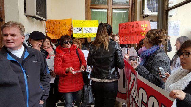 Marcharon contra la tracción a sangre en Paraná