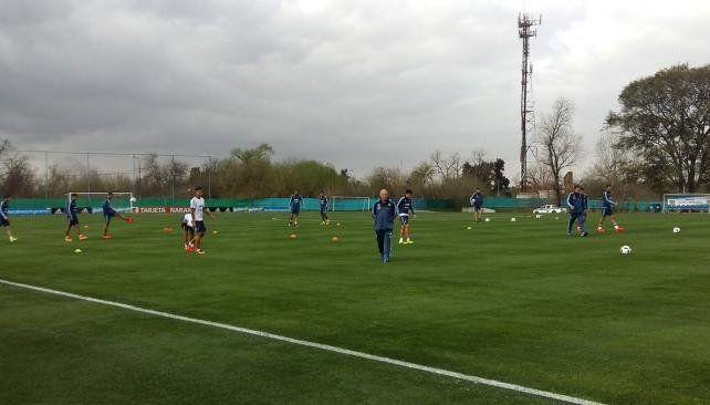 Bauza dirigió su primera práctica en la selección
