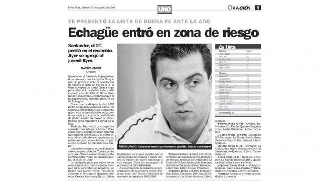 La exitosa lista de Santander hace 14 años