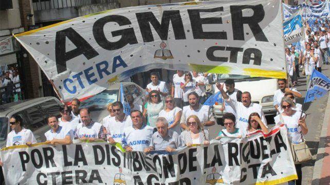Agmer se sumará a la Marcha Federal que el jueves pasará por Paraná