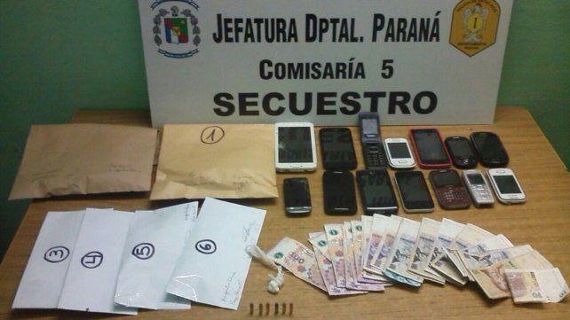 Cuatro detenidos tras allanamientos en que incautaron droga