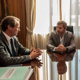 El ministro Frigerio se reunió con el gobernador de Entre Ríos, Gustavo Bordet, y el intendente de Gualeguay, Federico Bogdan.