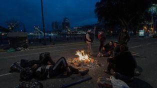 A la espera de la Marcha Federal, continúa el acampe en Puerto Madero