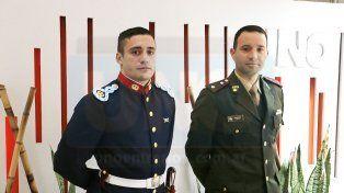 Matías Capózzo yGustavo Quiñoñez en la Redacción de UNO.