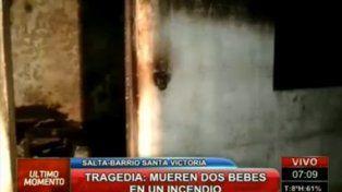 Dos bebés murieron al incendiarse la habitación en la que se encontraban