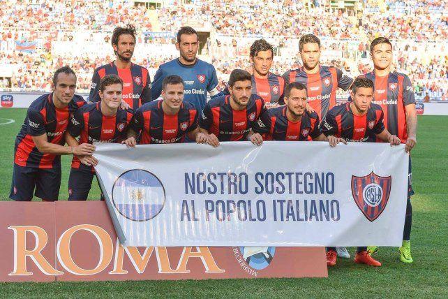 San Lorenzo perdió 2 a 1 con Roma en el amistoso solidario bendecido por el Papa futbolero