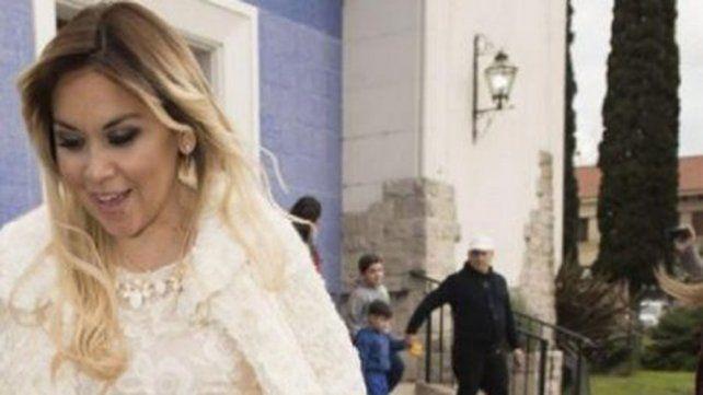 Sin Diego Maradona, Verónica Ojeda bautizó a Dieguito Fernando