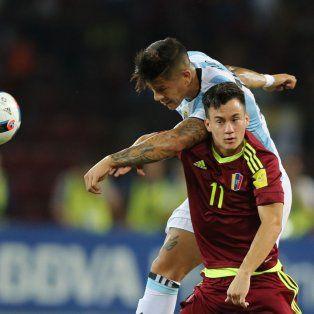 argentina sufrio, pero logro el empate con venezuela