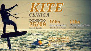 Se viene una clínica gratuita de Kite en Paraná