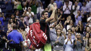 Del Potro terminó su sueño en el US Open ante Wawrinka
