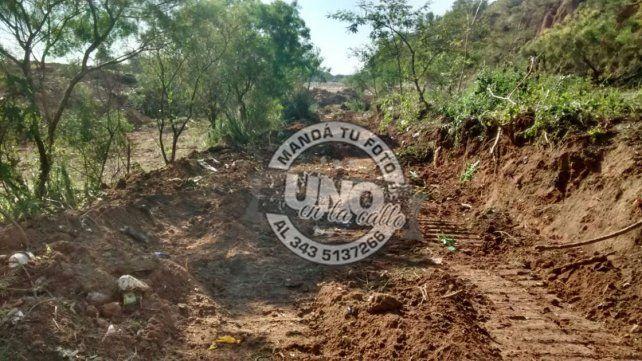 Generan inquietud trabajos de desmontes en la zona del Parque Nuevo