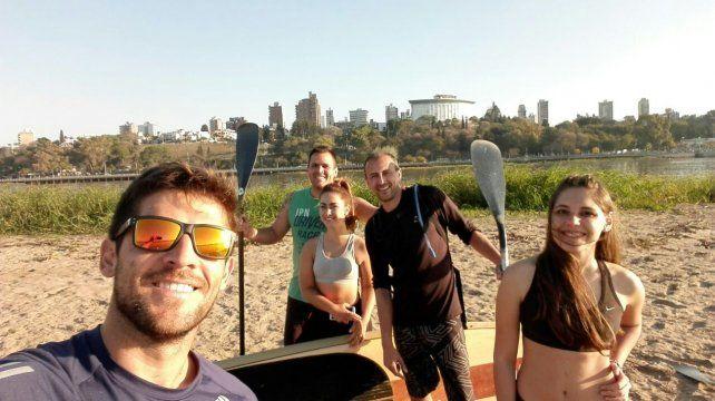 SUP. Pancho continúa con los entrenamientos y las salidas grupales en Paraná.